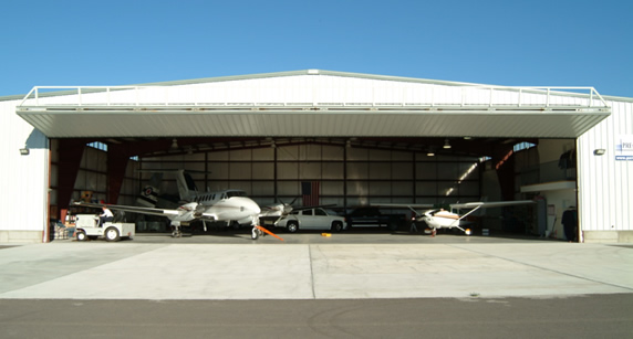 Airplane Storage Hangar using a Bi-fold door